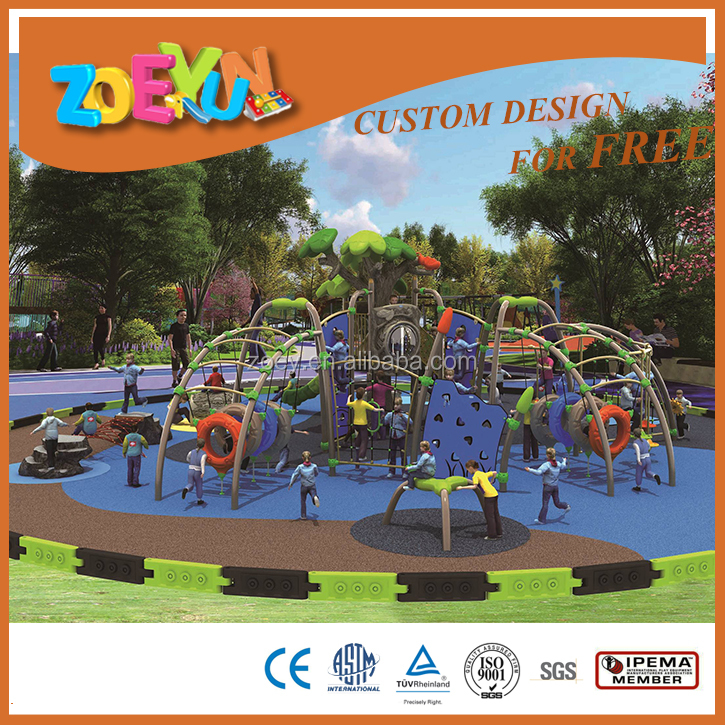 Le dynamic space series playground equipment plastic kids playground