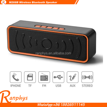 Ranphys M268B music wirless stereo A2DP portable bluetooth speaker home