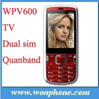 Cheapest TV Dual Sim Cell Phone WV600