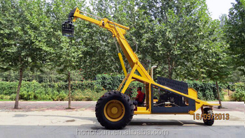 Bell cane loader with telescopic boom