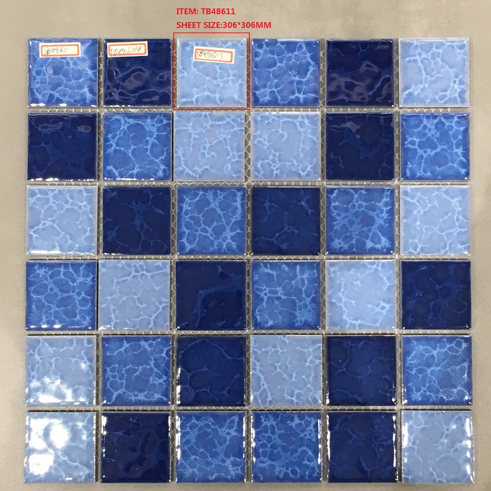 cheap glass mosaic pattern for swimming pool tile made in china
