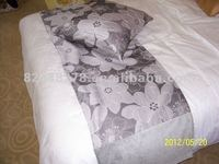 Hotel bed runner,silver big flower, high quality decorative cloth