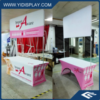 Washable Fabric Heat Transfer Printing Coustom Pop Up Exhibition Booth Display Shelf