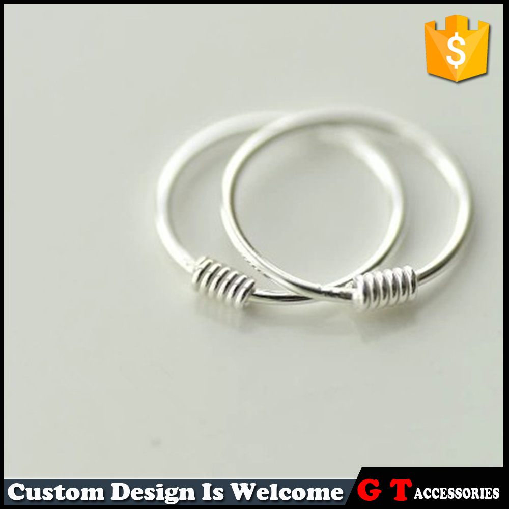 Newest <strong>Fashion</strong> 8mm 10mm Women Ladies 925 Sterling Silver Hoop Earring