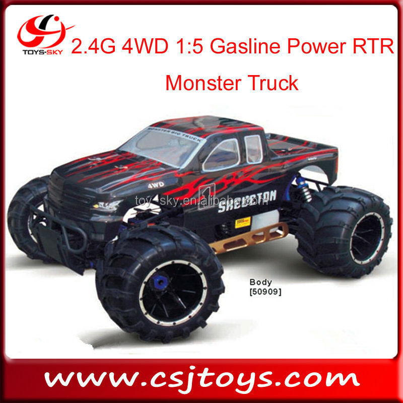 2.4G 4WD 1:5 huge scale Gasoline Nitro Power RTR Monster Truck HSP cars trucks