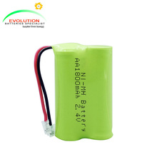 AA 1800mAh 2.4V Ni-MH Battery Pack Manufacturer with ISO9001,CE and UL certificates