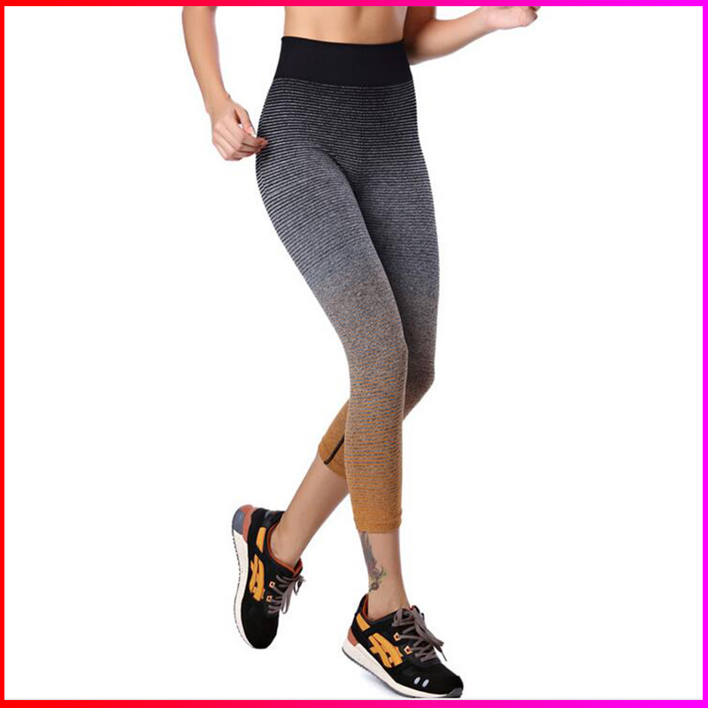 Fashion women yoga fitness pants running sport leggings