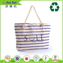 High quality canvas cotton tote cloth shopping bag with customized LOGO