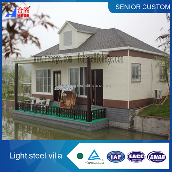 Prefabricated house,light steel frame villa , prefabcada casa,log cabins prefab house