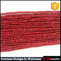 A grade 8mm faceted red coral beads, stock loose coral beads for bracelets