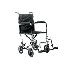 Lightweight manual portable folding travel wheelchair transport 8 inch wheels