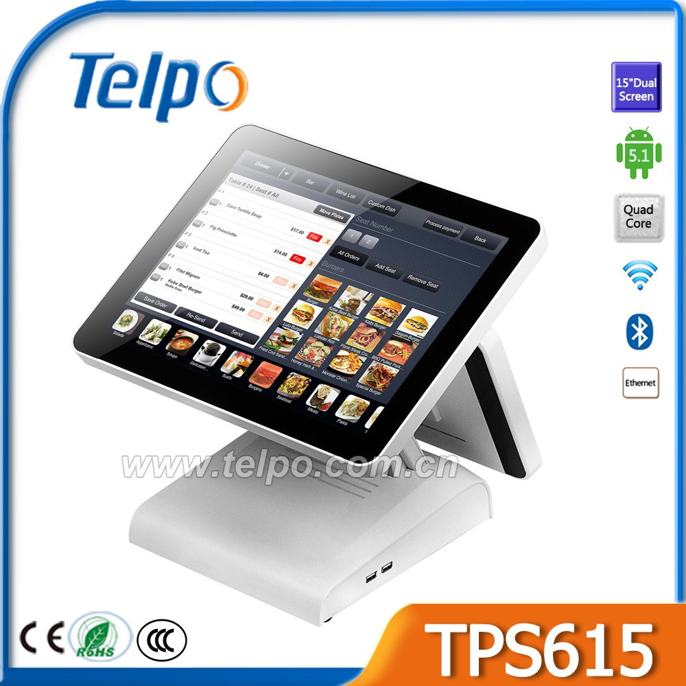 Hot Sale Quad-Core retail pos with wifi, bluetooth and ethernet