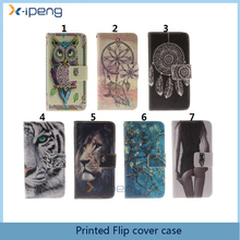 OEM custom pattern hot 2017 mobile phone shell PU leather flip cover case for xiaomi mi5