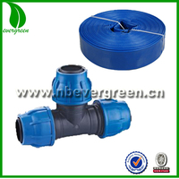 PVC Layflat Hose Camlock Quick Coupling Fittings,equal tee