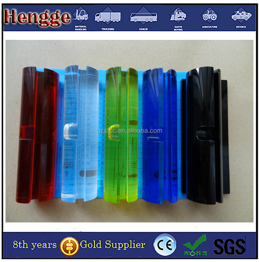 color and clear plexiglass columns