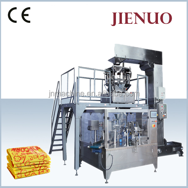 microwave popcorn rice puff bag cream filling packing machine