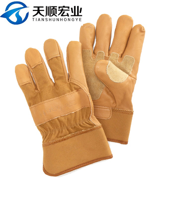 Full palm Cow Split Industrial Safety Working Leather Glove