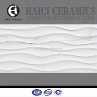 interior decoration white wave ceramic tile 30x60