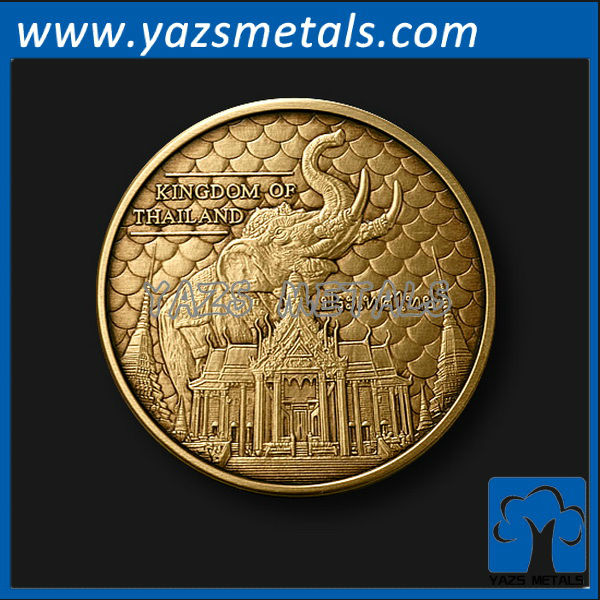 customize metal coins, custom high quality Kingdom of Thailand coin