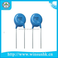 Made In China & Low Price Blue High Voltage Ceramic Disc Capacitor