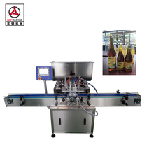 4 head simple auto bottle filling machine for honey /syrup