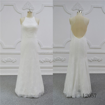 long slim wedding dress gown halter mermaid wedding gowns