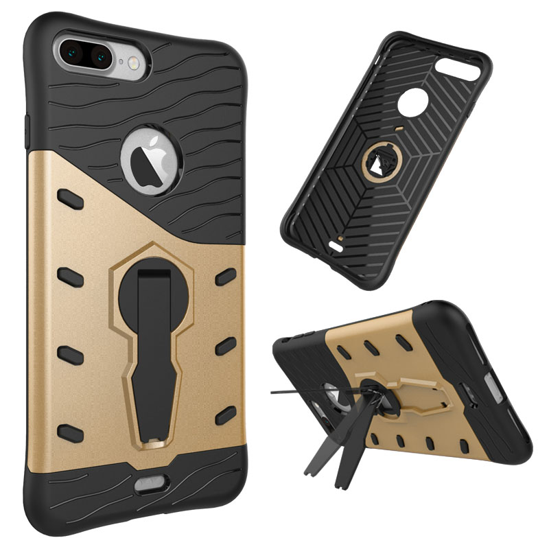 3 in 1 Strong antiproof armor Kickstand Design Sniper Hybrid TPU + PC case for Huawei Honor 5C GT3 Honor 7 lite