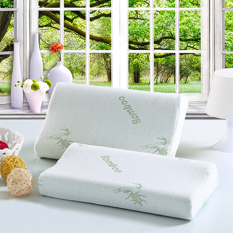 Shredded Wholesale Promotional Washbale Healthy Sleeping Bamboo Fabric Memory Foam Pillow