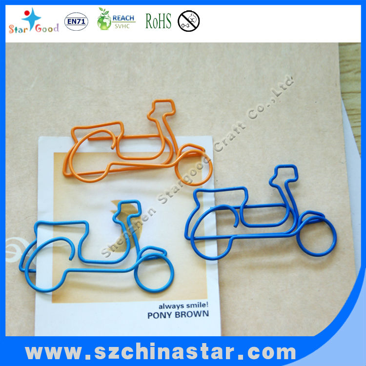 Beautiful motor bicycle paper clips
