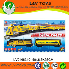 Hot-selling plastic electric model trains track car toys with light and music