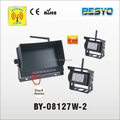 7 inch monitor system with 2 wireless cameras , truck, van,marine and engineer car use BY-08127W-2