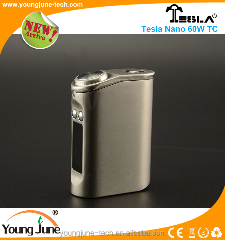 Tesla nano 60w TC Vape mods e-cig mod wholesale box mod with new vape device