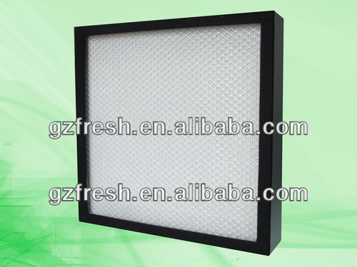 FRS-UW secondary filter,mini-pleat ultra low penetration air filter for clean room