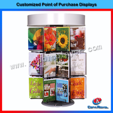 2017 New products floor standing metal and acrylic greeting gift card display stand
