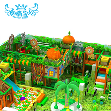Big luxurious plastic indoor playground equipment with toys