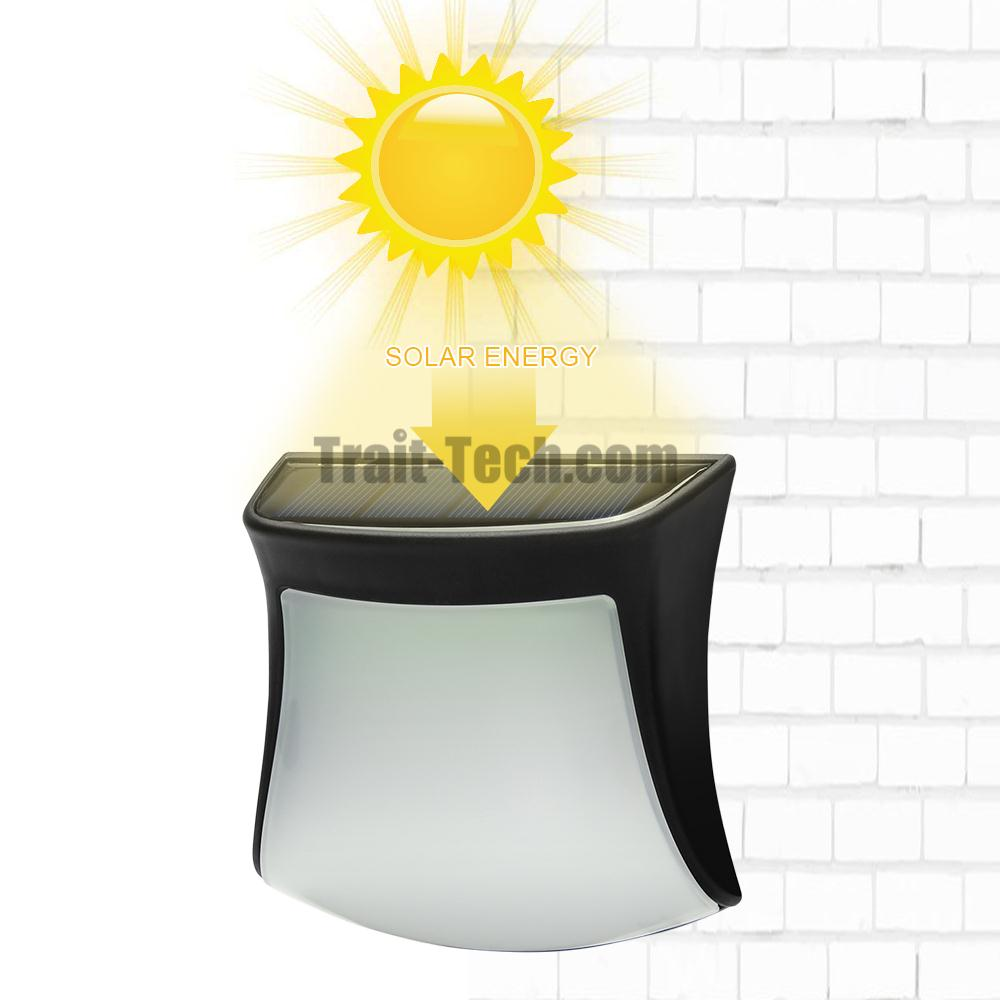 DS1111 Solar Powered Light Fence Wall Decoration Lamp Solar Street Light LED Garden Light Waterproof Outdoor