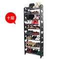 Easy install 10 tiers Free diy shoe storage cabinets plastic shoe rack
