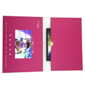 "2018 fashionable 7"" A4 lcd video player brochure, lcd screen video greeting book"