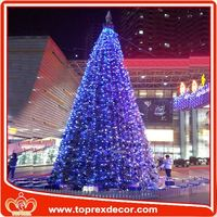 2015 falling snow light high quality metal trophy christmas decoration