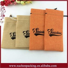 Natural Small Gift Packing Burlap Drawstring Pouches for Food