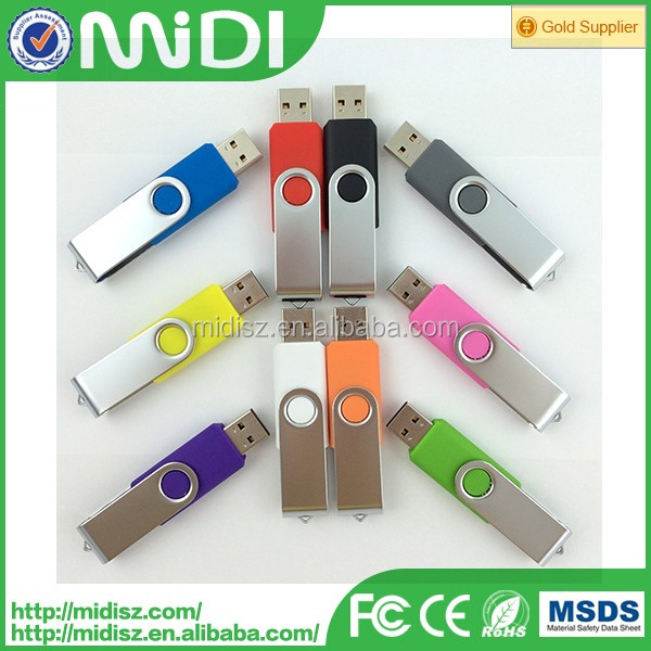 Twist reverse with any kind of your requirement logo USB flash drive