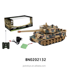 Auto-show 2.4GHZ boy toys army tiger rc shooting tank model