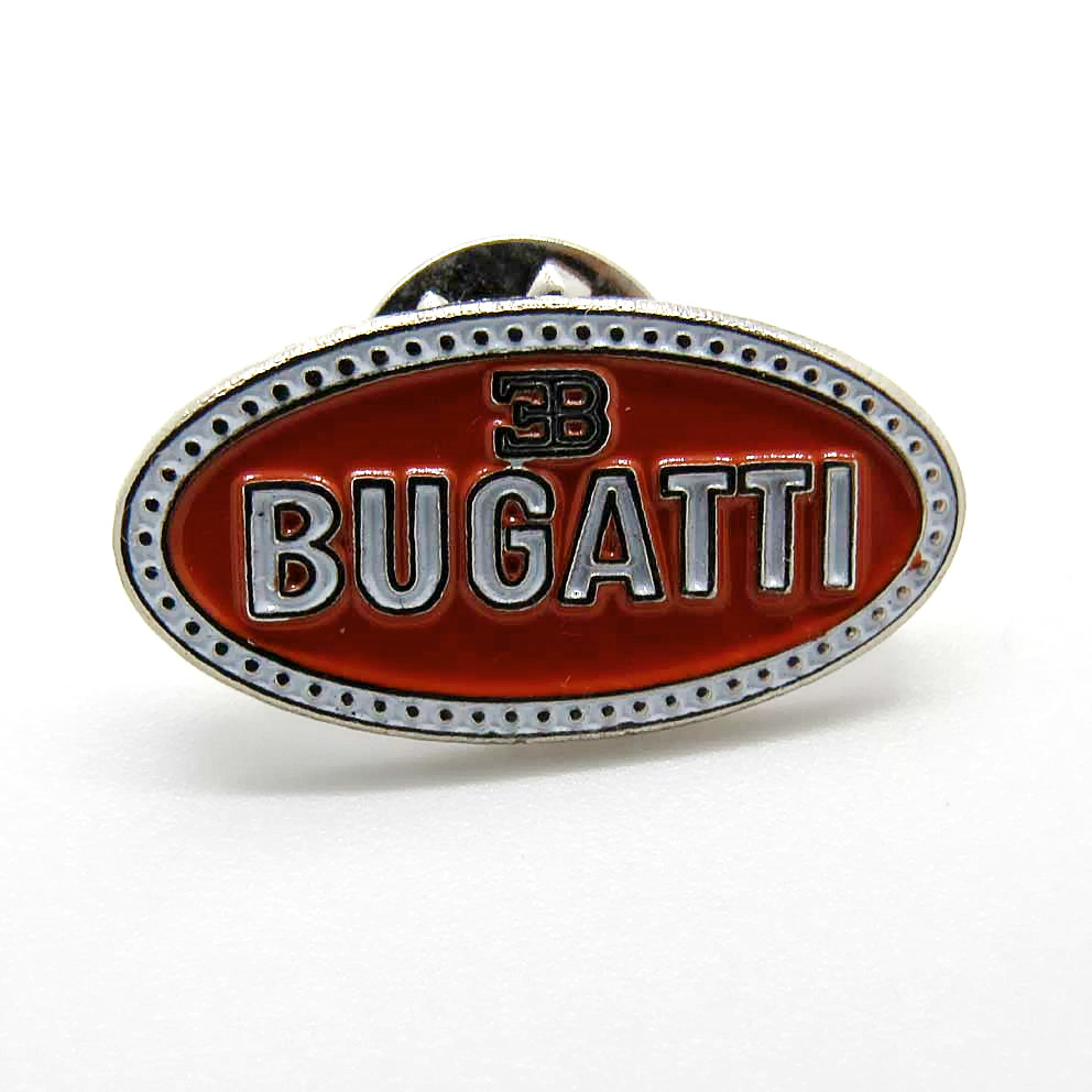 Custom cheap France car name logo metal badge , Metal soft enamel car logo lapel pin badge
