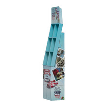 Poster printed blue advertising shop display stands for Chocolates