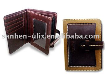 Wallet, Made of Fabric and Genuine Leather, Available in Different Colors and Sizes