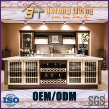 Botong Living KC-L 06 luxury house design baroque style kitchen cabinet with liquor storage