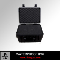 Hard plastic waterproof equipment case/plastic lightweight travel case