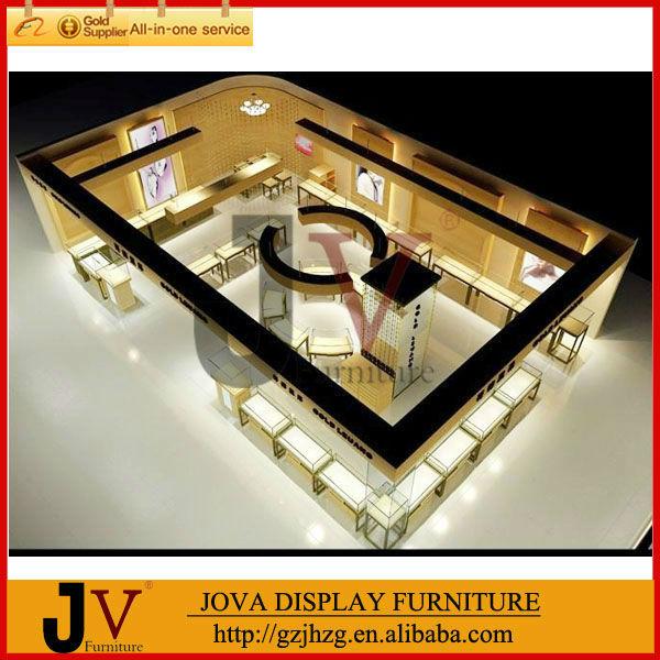 Indian Watch Gold Jewellery Display Rack Showroom Interior Design From ...