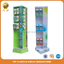 Supermarket plastic wireless accessories display stand with LED lights