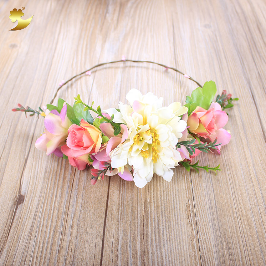 Wholesale Flower Head Wreath indian wedding hair accessories